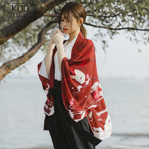 Casual Anime Printing Shirt Clothes Traditional Kimonos