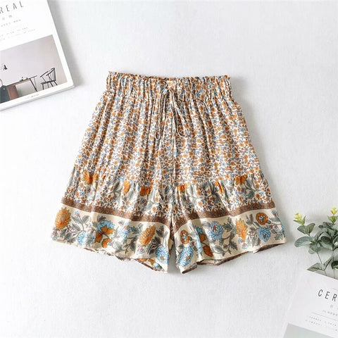floral print bohemian happie shorts