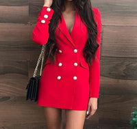 Chic Elegant Long Sleeve Office Dress