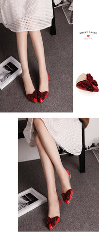 Luxury Rhinestone Ballet Flat Shoes