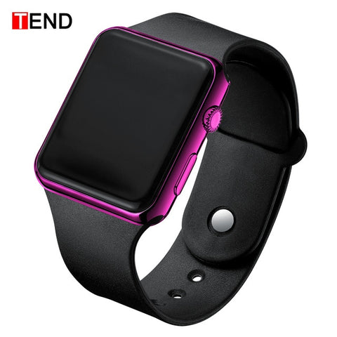 Square LED Student Adult Couple Electronic Digital Watch