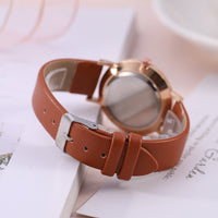 Fashion Luxury Leather Band Analog Quartz WristWatch
