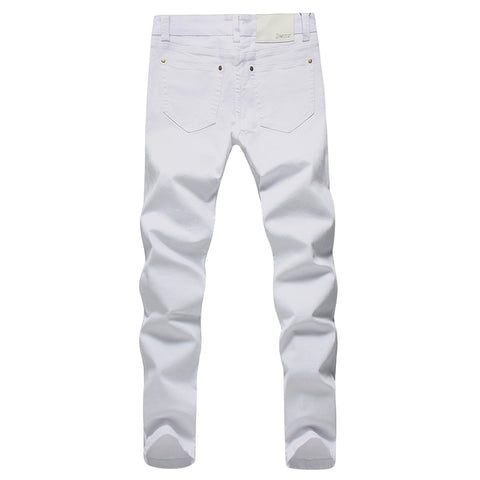 Fashion white Denim Trousers