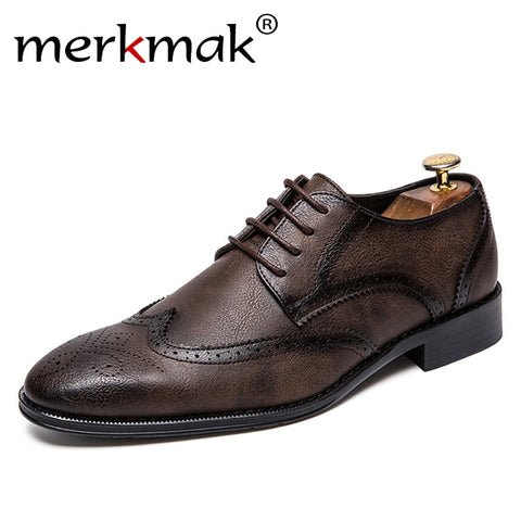 Formal Wedding Genuine Leather Flats Oxfords