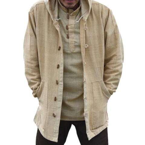 Cotton Linen Solid Jacket