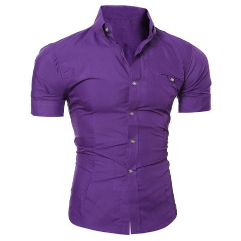 Fashion Sexy V-Neck Solid Color Buttons Blouse shirts