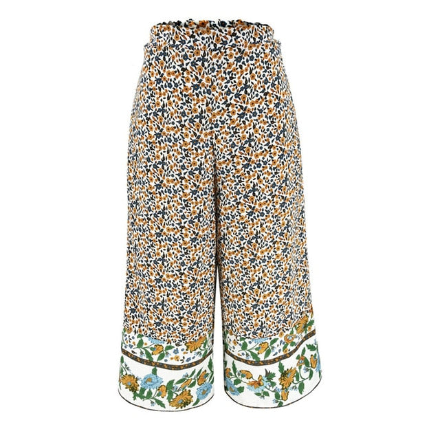 Boho Hippie Wide Leg Gypsy Palazzo Casual Trousers