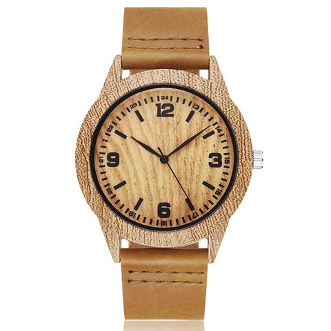 Creative Life Tree Imitation Wood Watch