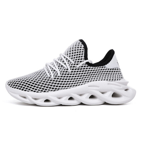 Black Mesh Breathable Running Sport Shoes
