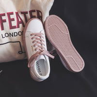 New Flat Leather Sneakers