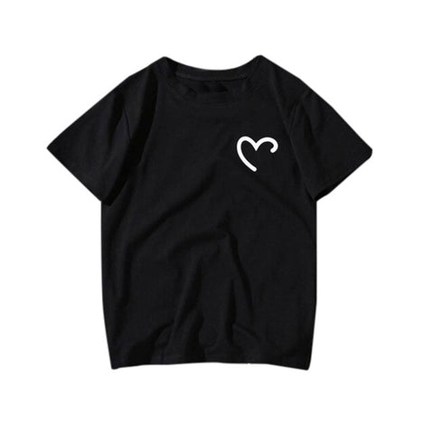 Harajuku Love Print Top TShirt