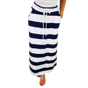 Striped Casual Long Skirt