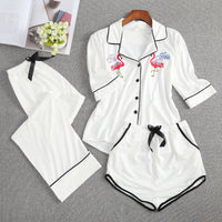 Cotton Set 3 Pieces Sleepwear Pajamas