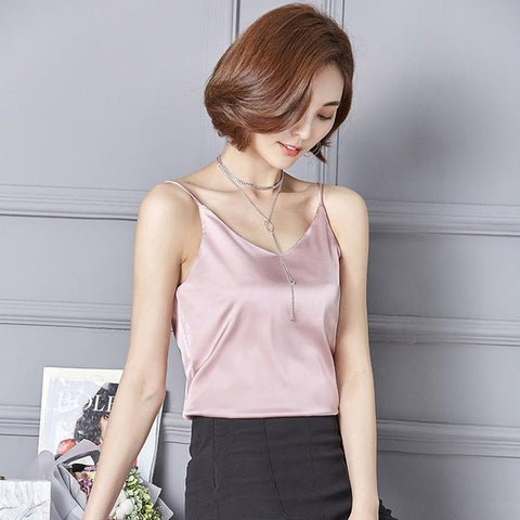 Soft Satin Tank Top Crop