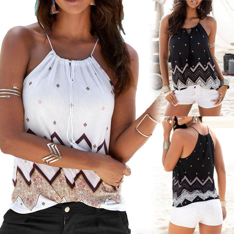Loose Sleeveless Casual Shirt