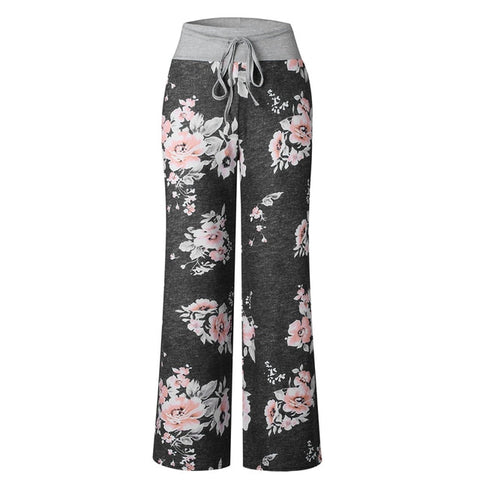 Loose Boho Pants High Elastic Waist Pants