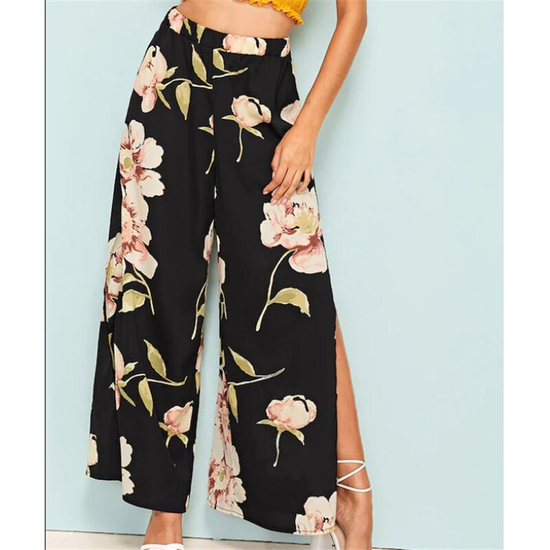 Loose Boho Floral Casual Fashion Bohemian Pants