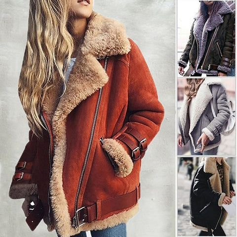 Leather Thick Suede Jacket
