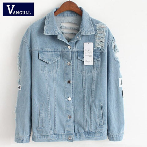 Frayed Denim Bomber Jacket