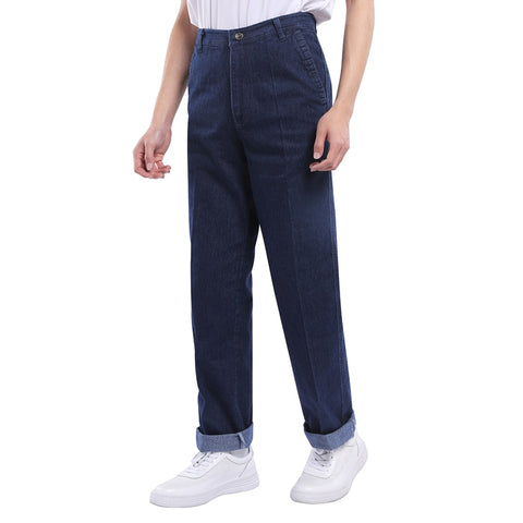 High Waist Straight Tube Loose Deep Crotch Jeans