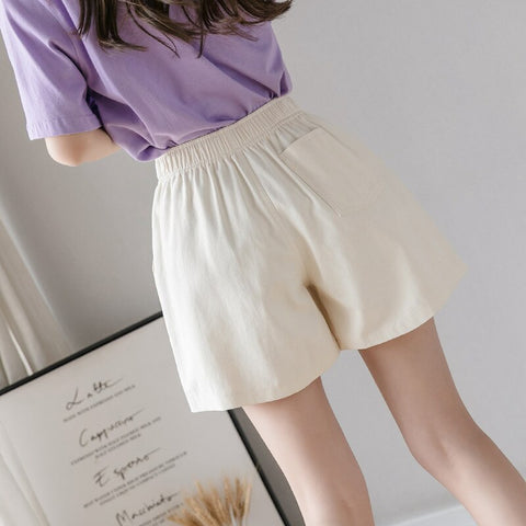Elastic High Waist Shorts