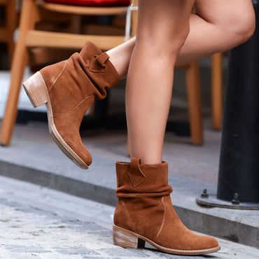Suede Genuine Leather Boots