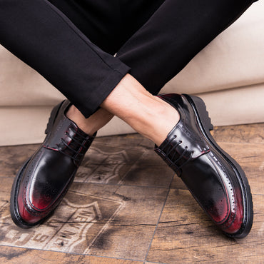 Casual Leather Oxford British Style Elegant Business Shoes