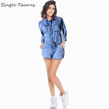 Long Sleeve Jeans Rompers