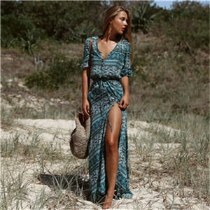Boho Maxi Long Bandage Dress
