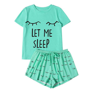 Short Sleeve Print Cotton T-Shirt Sleepwear