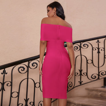 New Arrivals Off Shoulder Bandage Dress