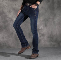 Vintage Black Grey Blue Flare Jeans