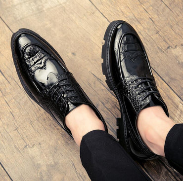 formal brogue platform oxford shoes