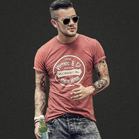 Trend Printing Short Sleeve Letters Retro T-shirt