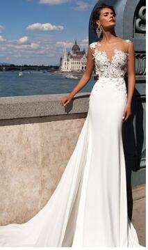 Lace Chiffon Wedding Gowns Dresses