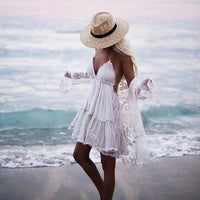 chic strapless sexy lace dresses