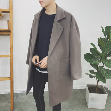 Warm Oversized Wool Trench Coat
