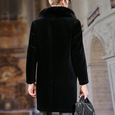 Fashion Sheepskin Fur Coat
