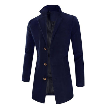 Wool Blends Long Coat