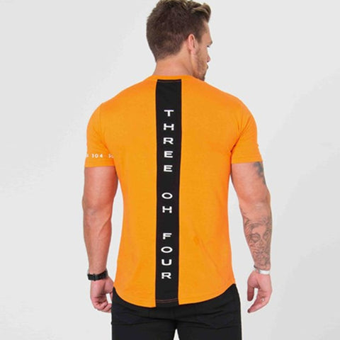 Fitness Slim Patchwork Black T-shirt