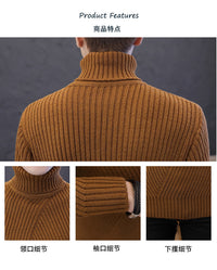 Thick Warm Turtleneck Stripe Sweaters