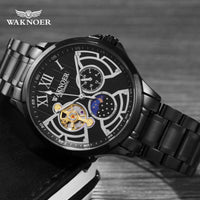 Waterproof Moon Phase Luminous Luxury Gold  Business Watch