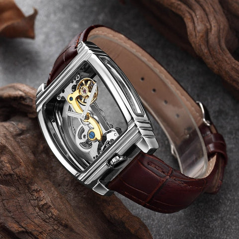 Transparent Automatic Mechanical Watch
