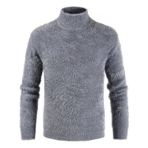 Turtleneck Knitted Cashmere Wool Sweater