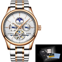 Automatic Date Clock Waterproof Wristwatch