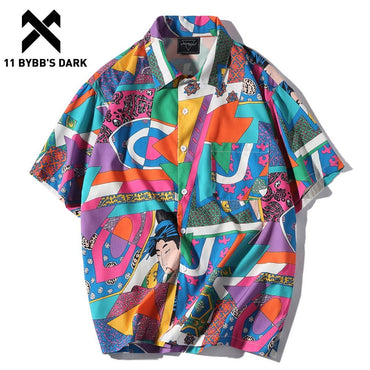 Hawaiian Hip Hop Japanese Streetwear Casual Shirt