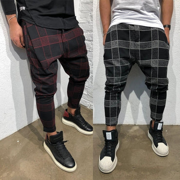 Plaid Joggers Causal Harem Pants
