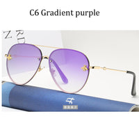 Luxury Brand Designer Rimless Sunglasses