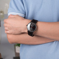 Elegant Black Wood Watch