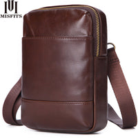 Genuine leather small crossbody bag
